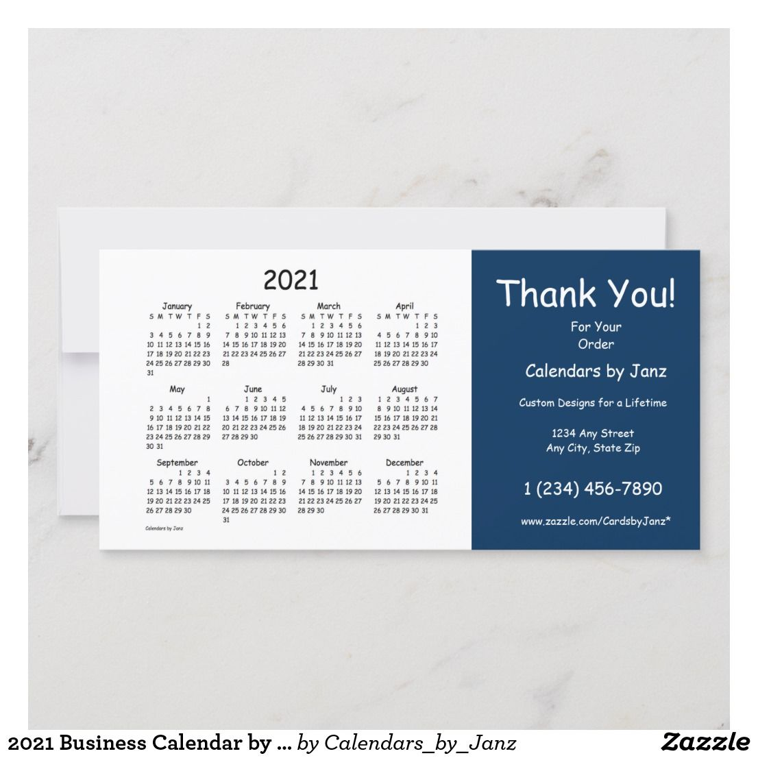 2021 Business Calendar by Janz Thank You Holiday Card