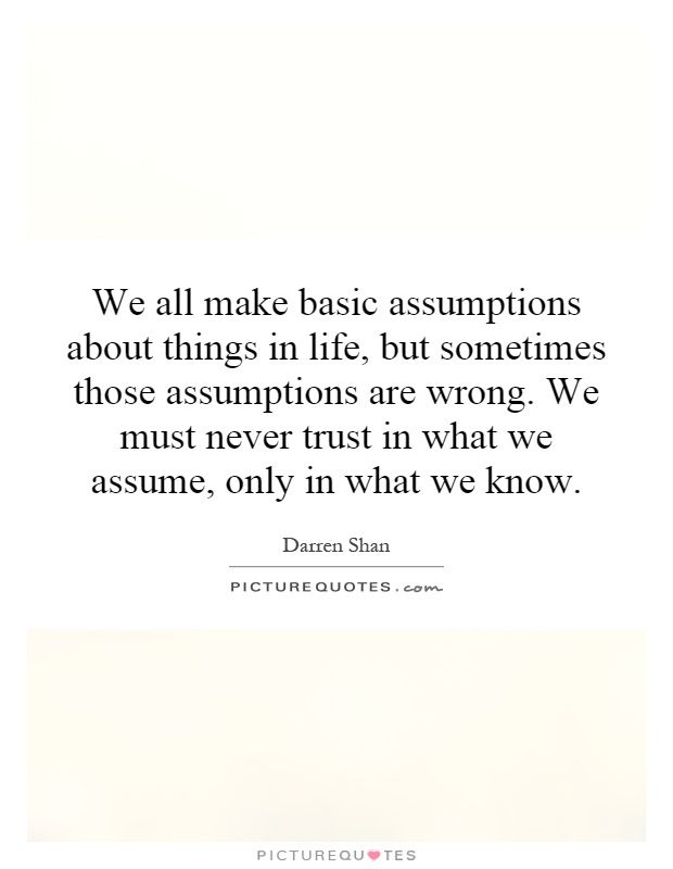 quotes on assumtions Yahoo Image Search Results