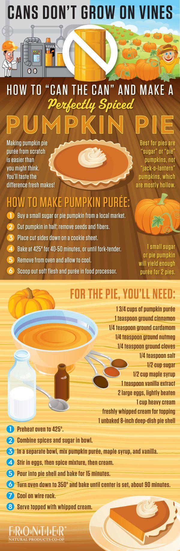pumpkin pie  scratch infographic thanksgiving recipes thanksgiving