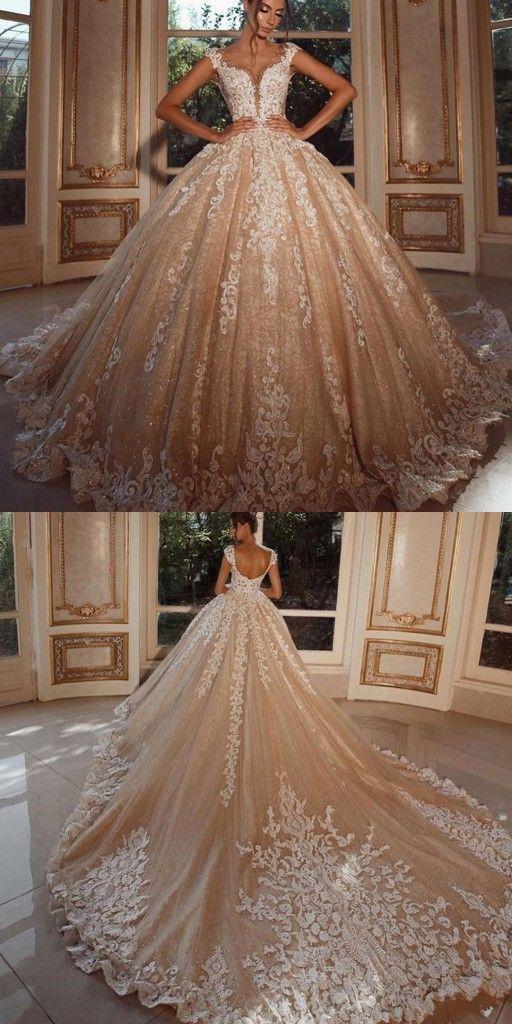 Luxus Hochzeitskleider Lang Glitzer Brautkleider Prinzessin Mit Spitze Modellnummer Xy954 In 2020 Brautkleid