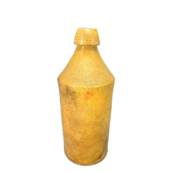 1860 1870 Avery N Lord Stoneware Beer Bottle From Utica Ny This