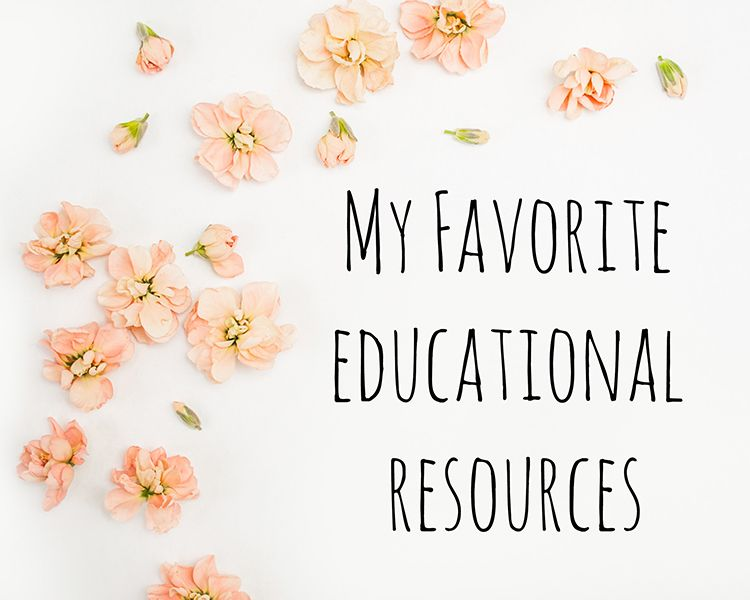 my favorite educational resources