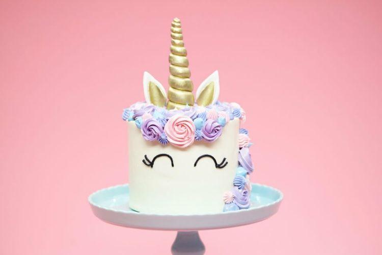 Fondant Kindergeburtstag Einhorn Torte Rezept Geburtstag Feiern