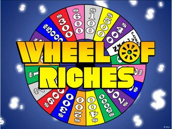wheel of riches powerpoint template - plays just like wheel of, Powerpoint templates