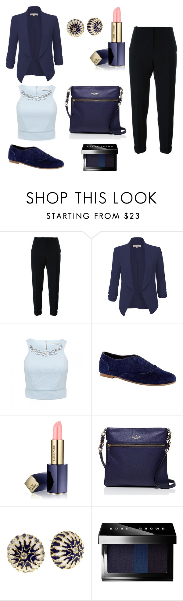 """Seattle"" by camille-triolo ❤ liked on Polyvore featuring Nanushka, LE3NO, Forever New, Sole Society, Estée Lauder, Kate Spade, Bobbi Brown Cosmetics, women's clothing, women's fashion and women"