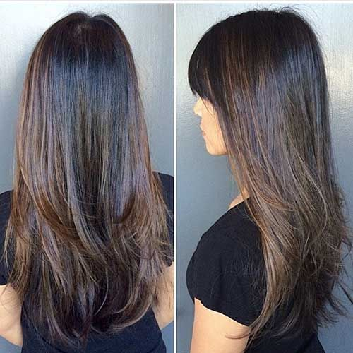 Pin by kristina kozina on hair long layer cuts pinterest hair rich dark chocolate brunette with hazel highlights pmusecretfo Gallery