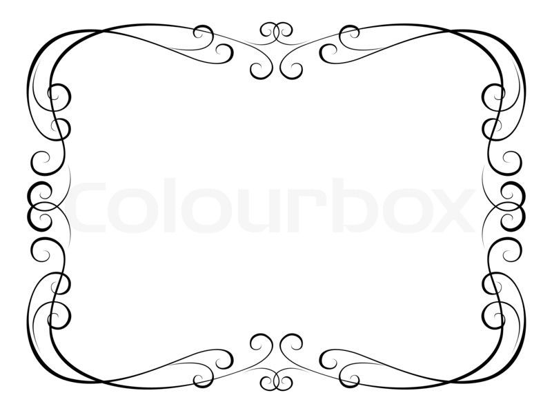Calligraphy ornamental decorative frame pergaminos y