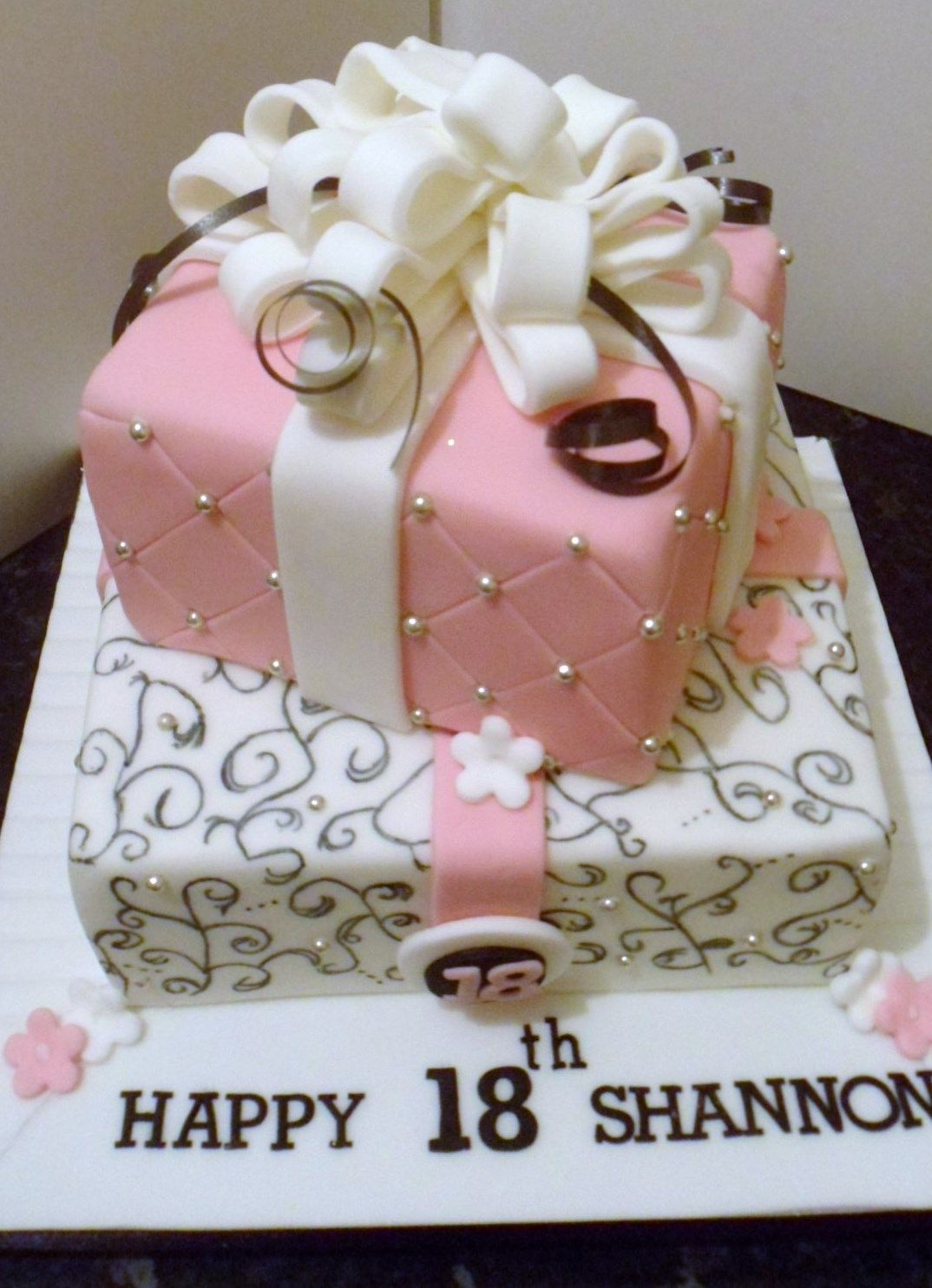 2 Tier Cake Suitable For Several Occasions All Design Hand Painted On The Bottom