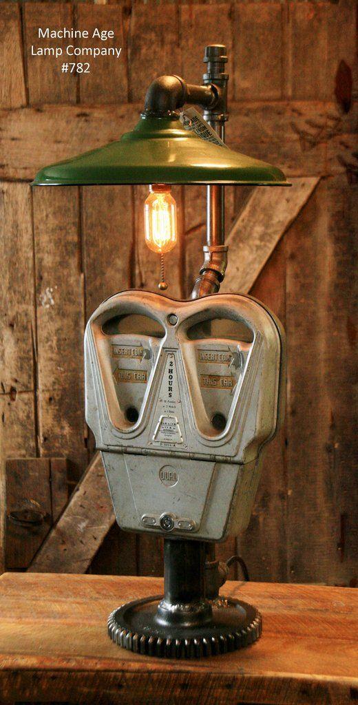 Steampunk, Industrial, Vintage Parking Meter Lamp - #782