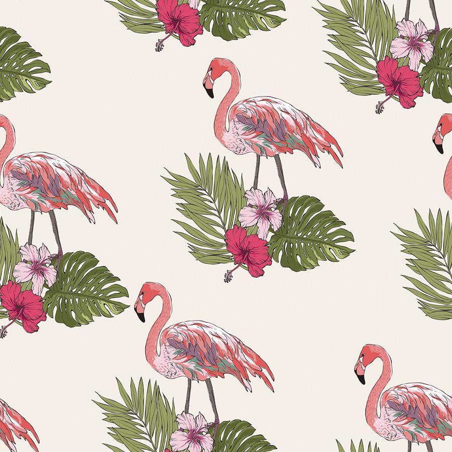 Flamingos On Palms Flamingo Wallpaper Pink Flamingo Wallpaper Wallpaper