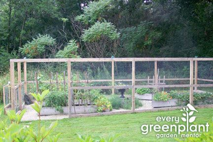 deer fence gardendeerfence services design work examples - Deer Proof Vegetable Garden Ideas