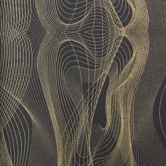 Black and Gold Abstract Waves KR429 Wallpaper from the Globalove Colle – BURKE DECOR