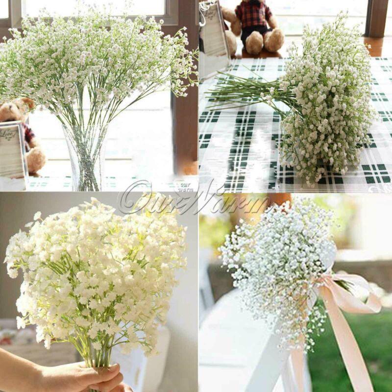 12 Baby Breath Artificial Flowers Fake Gypsophila Wedding Flower Bouquet Decor Ebay In 2020 Flower Decorations Diy Diy Wedding Decorations Diy Decor