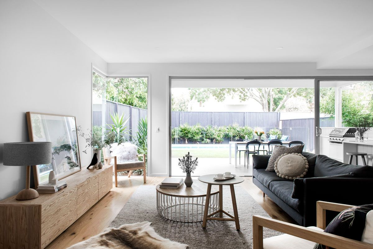 Wooloowin display home living space. Image by Cathy Schusler ...