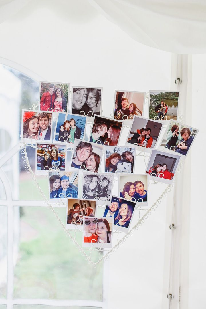 Wedding photo displays cute ideas | fabmood.com #weddingideas #weddinginspiration #photodisplay