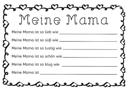 Muttertag Schreibanlass Schreibanlässe Gedicht Kreativ