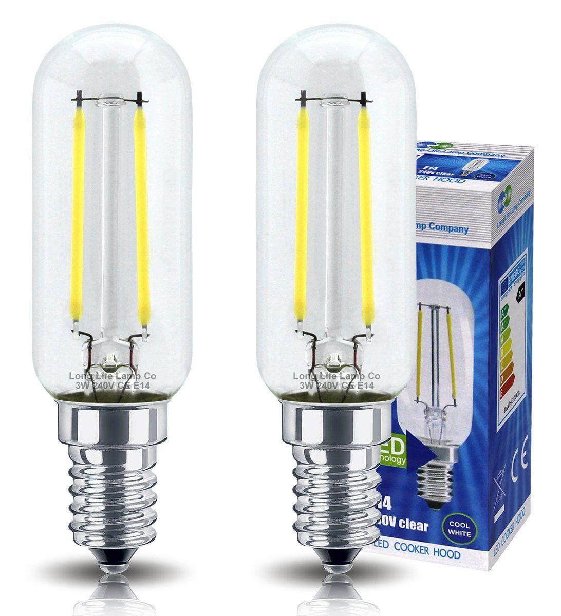 2 Pack Led Cooker Hood Bulb 3w 40w Brightness Energy Saving Ses E14 Small Screw Cooker Hood Bulb Replacement Led Filament Save Energy Bulb Cooker Hoods