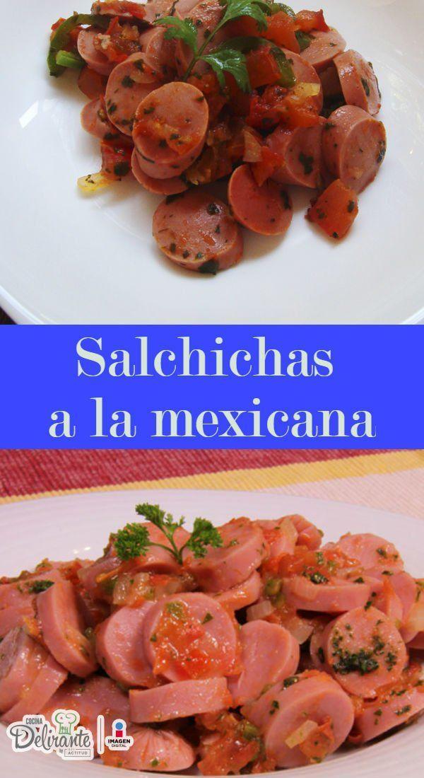 Receta f cil de salchichas a la mexicana cocinadelirante for Platillos faciles y rapidos