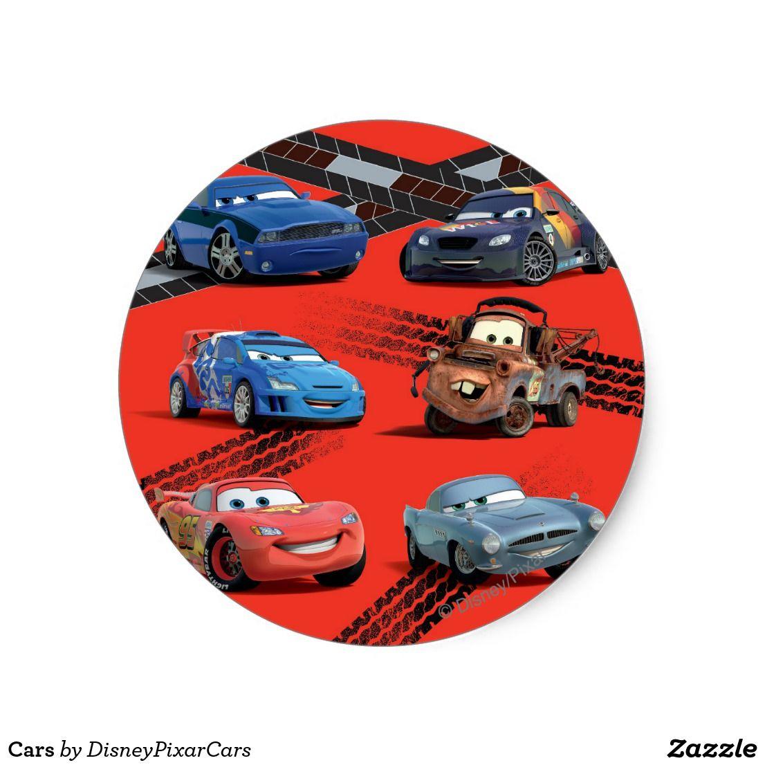 Cars Classic Round Sticker Zazzle Com Disney Cars Car Stickers Car Shop [ 1106 x 1106 Pixel ]