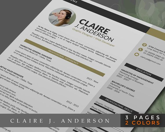 Claire Anderson\ - resume 1 or 2 pages