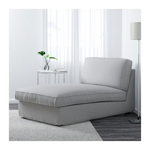KIVIK Chaise longue Ramna light grey