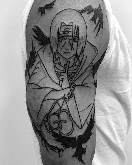 Naruto face tattoo