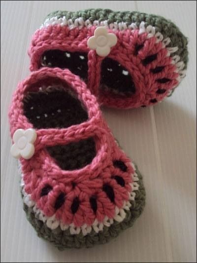 Cute little Watermelon Mary Janes from e-patternscentral.com ...