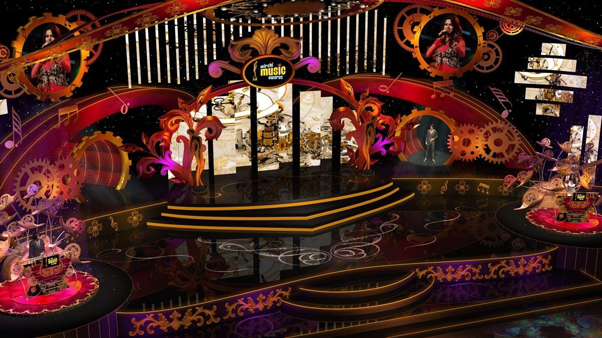 awards stage design | Stage backdrop design, Stage design ...