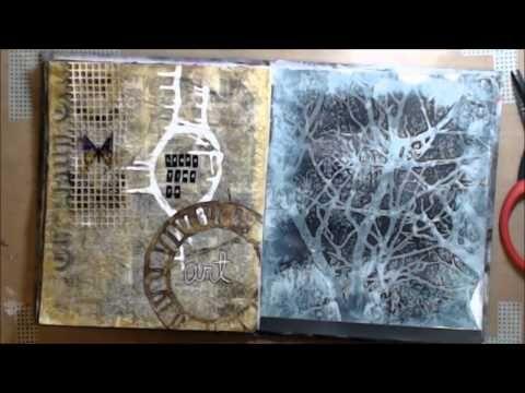 "ImperfectImpulses ABC Art Journal Series-M ""Make something."""