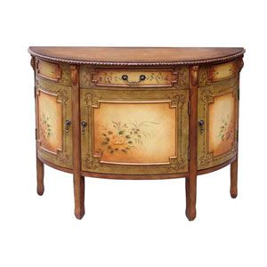 Hand Painted Console Table