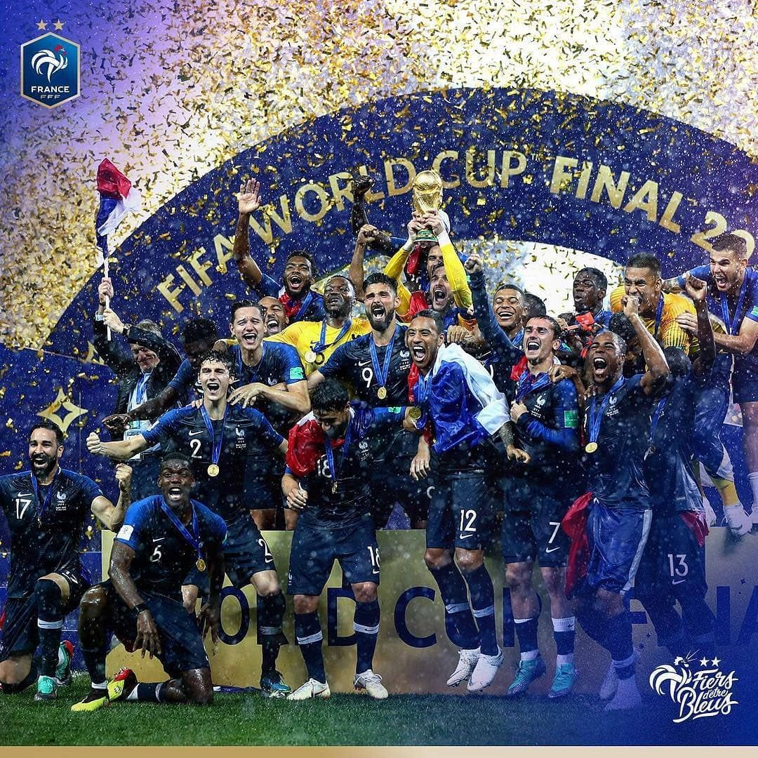 Finally My Dreams Came True Finally My Heroes Can Lift Up The Champion Cup Finally We Are A Really With Images World Cup Champions World Cup Winners World Cup Final 2018