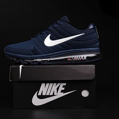 huge selection of 55770 7415f Footwear · Nike Air Max 2017 Dark Blue White Logo Men Shoes