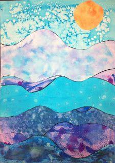 Watercolor Technique Landscapes Kids Art Class Watercolor Art
