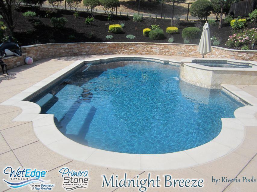Primera Stone Midnight Breeze Built By Riveria Pools