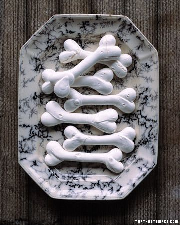 Sweet Bones made from meringue.