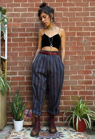 Fairtrade Rainbow Striped Cotton Trousers | Adorned