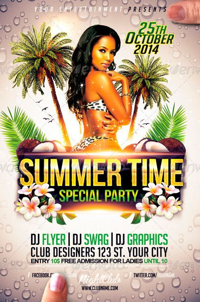 Summer Time Flyer PSD Flyer Template - http\/\/wwwffflyer - summer flyer template