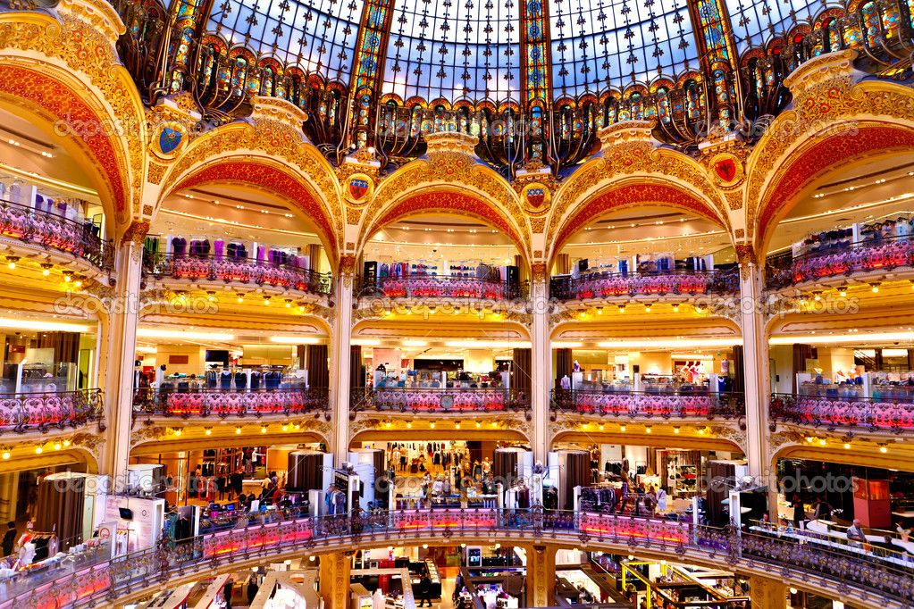 Bien connu Inside of luxurious shopping centre - Galerie Lafayette - Paris  KO62