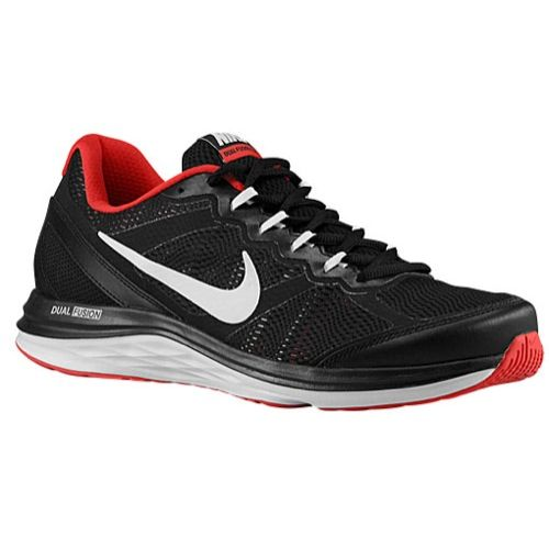 Buy Nike Dual Fusion Run 3 - Trainers Nike Running - Mens Black/University  Red/White New Release from Reliable Nike Dual Fusion Run 3 - Trainers Nike  ...