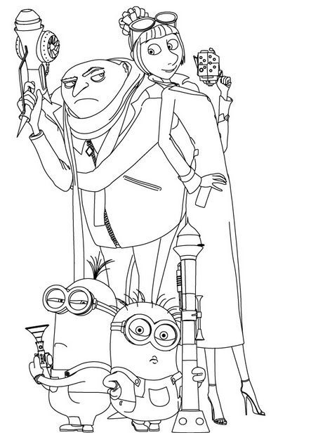 FREE Despicable Me 2 Coloring Pages entertaining Pinterest