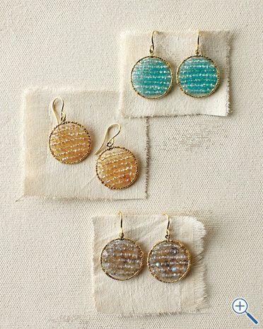 """Sonyarenée Circle Earrings $98  Size: 3/4"""" diameter; 1 1/2"""" drop"""