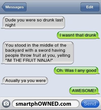 Dude you were so drunk last night...: Photo