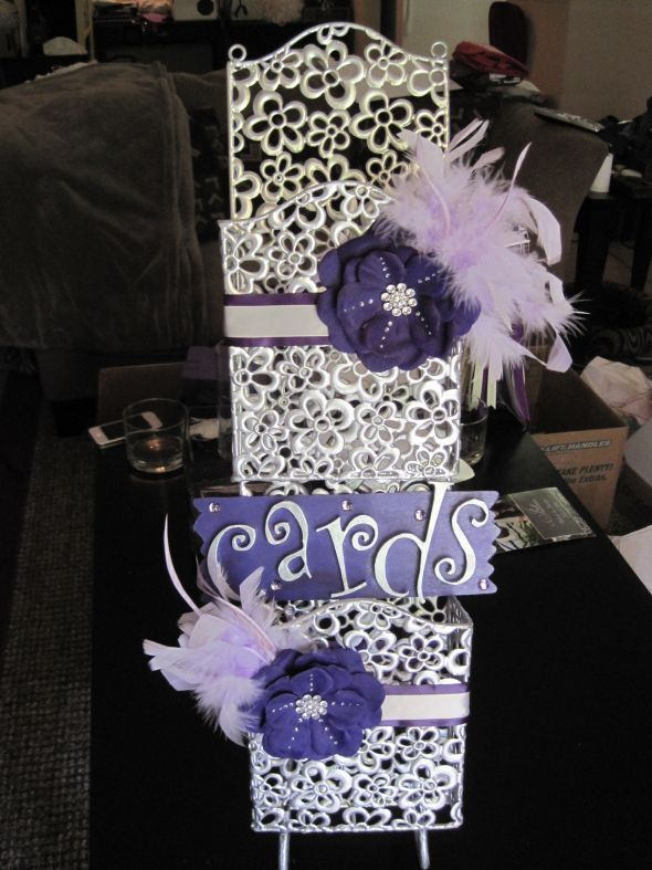 Purple & Silver Wedding Decor For Sale :  wedding decorations frames linens purple silver table numbers Wedding Stuff 038