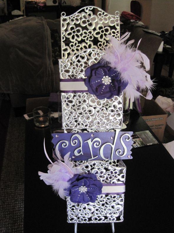 Purple Silver Wedding Decor For Sale Wedding Decorations Frames
