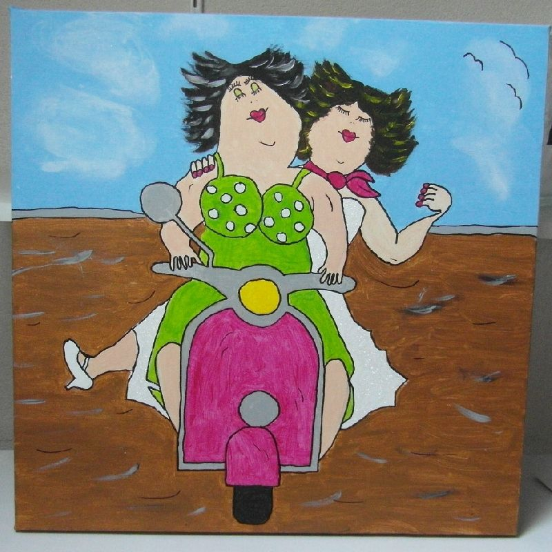 Dikke dames schilderijen mauve for Dikke dames schilderen