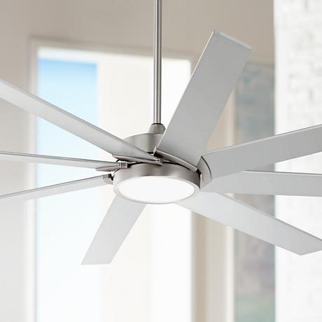 65 Possini Euro Destination Brushed Nickel Led Ceiling Fan