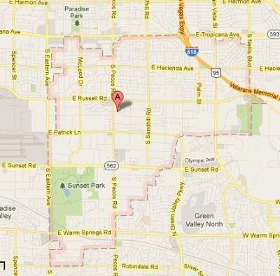 Map of 89120 Zip Code  Las Vegas NV  LAS VEGAS REAL ESTATE