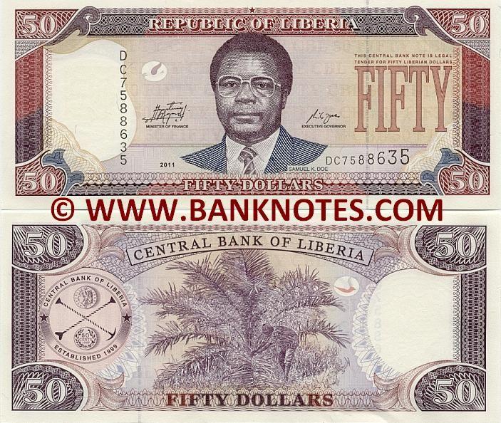 Liberia Banknote 10 Dollars 2011 UNC