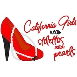 Stilettos and Pearls California Applique - 3 Sizes! | Sport Teams | Machine Embroidery Designs | SWAKembroidery.com Band to Bow