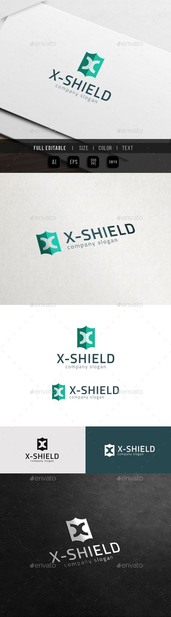 X Shield Extreme X Logo. This premium logo template is
